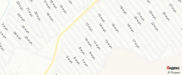 11-я улица на карте СНТ Арлана восточной стороны с номерами домов