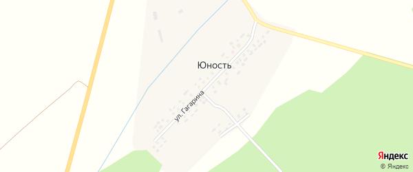 Улица Гагарина на карте деревни Юности с номерами домов