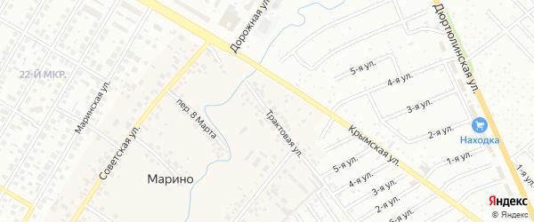 Трактовая улица на карте гаражно-строительного кооператива Марьино с номерами домов