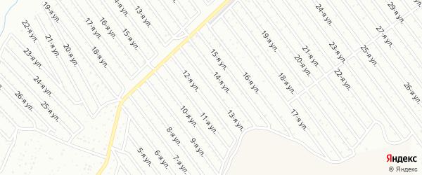 13-я улица на карте СНТ Арлана восточной стороны с номерами домов