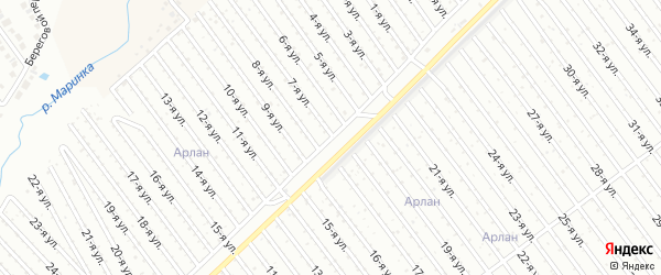 7-я улица на карте СНТ Энергетика СУ КГРЭС с номерами домов