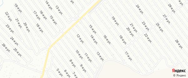 14-я улица на карте СНТ Арлана восточной стороны с номерами домов