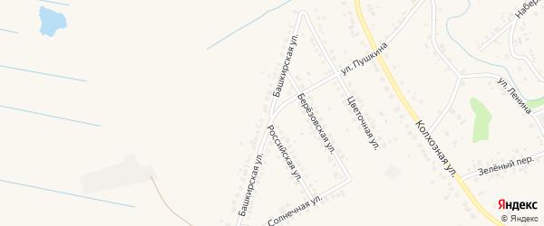 Башкирская улица на карте села Ташкиново с номерами домов