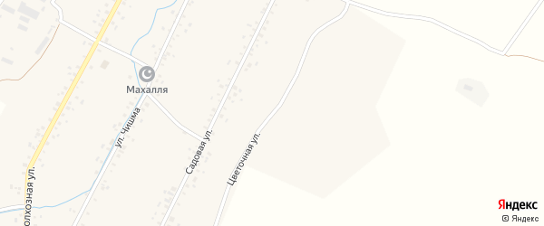 Цветочная улица на карте села Новонагаево с номерами домов