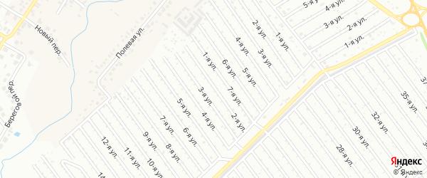 2-я улица на карте СНТ Арлана западной стороны с номерами домов
