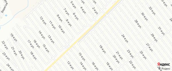 18-я улица на карте СНТ Арлана с номерами домов