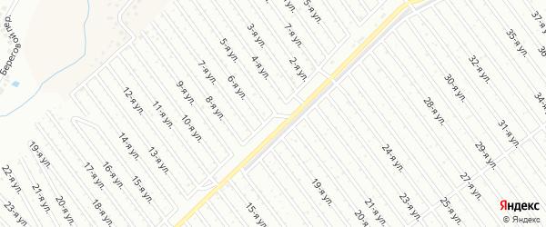 5-я улица на карте СНТ Арлана западной стороны с номерами домов