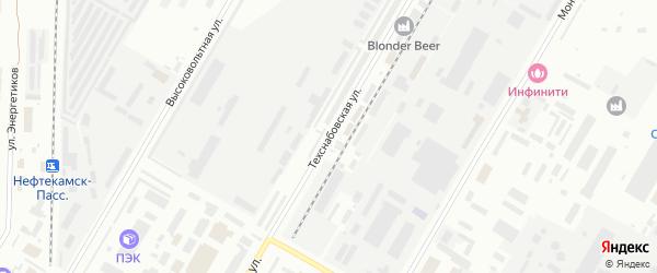 Техснабовская улица на карте Нефтекамска с номерами домов