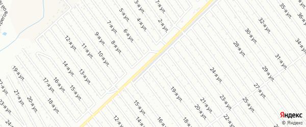 19-я улица на карте СНТ Арлана с номерами домов