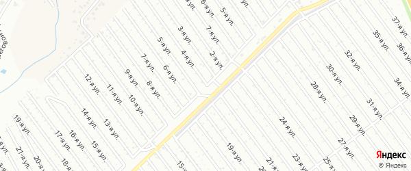 4-я улица на карте СНТ Госучреждение-2 с номерами домов