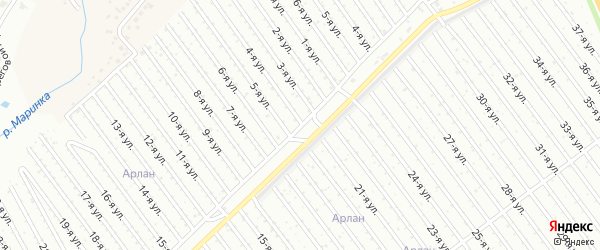 4-я улица на карте СНТ Энергетика СУ КГРЭС с номерами домов