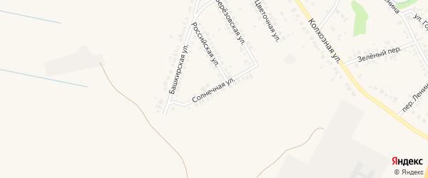 Солнечная улица на карте села Ташкиново с номерами домов