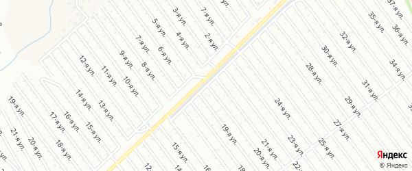 20-я улица на карте СНТ Арлана западной стороны с номерами домов