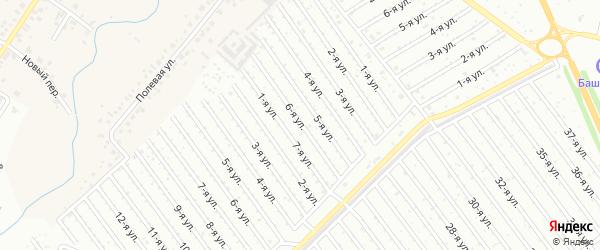 6-я улица на карте СНТ Энергетика СУ КГРЭС с номерами домов