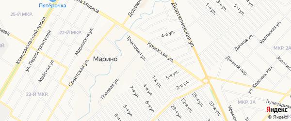 ГСК Марьино на карте Трактовой улицы с номерами домов