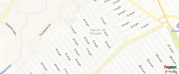 5-я улица на карте СНТ Рассвета с номерами домов