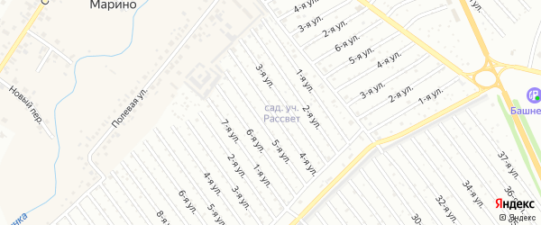 4-я улица на карте СНТ Рассвета с номерами домов