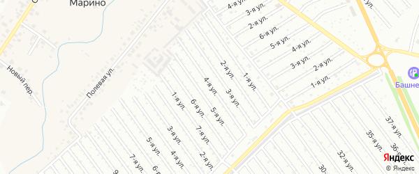 4-я улица на карте садового товарищества СПК Геофизика с номерами домов