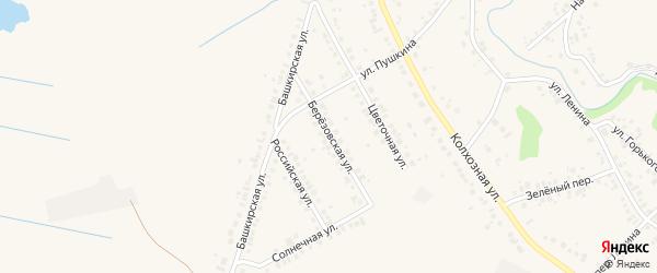 Березовская улица на карте села Ташкиново с номерами домов