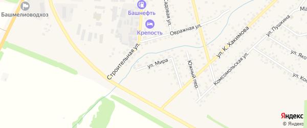 Улица Мира на карте села Бижбуляка с номерами домов