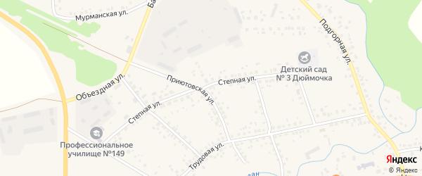 Степная улица на карте села Бижбуляка с номерами домов