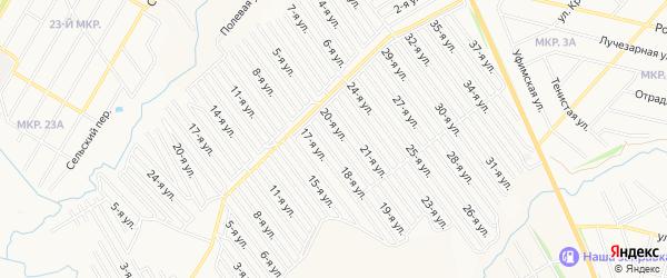СНТ Арлан восточная сторона на карте Нефтекамска с номерами домов