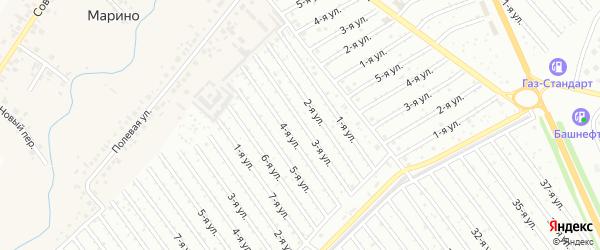 3-я улица на карте СНТ Госучреждение-2 с номерами домов
