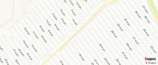 22-я улица на карте СНТ Арлана восточной стороны с номерами домов
