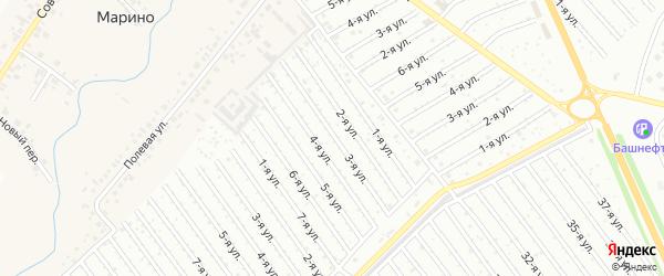 3-я улица на карте СНТ Рассвета с номерами домов