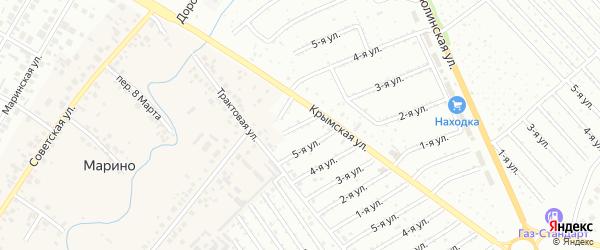 11-я улица на карте СНТ Восхода НГДУ с номерами домов