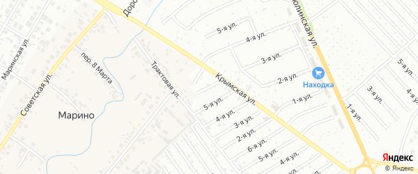 11-я улица на карте садового товарищества СПК Радуги 2 с номерами домов