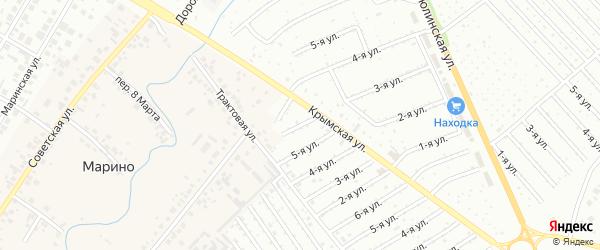 11-я улица на карте СНТ Арлана с номерами домов