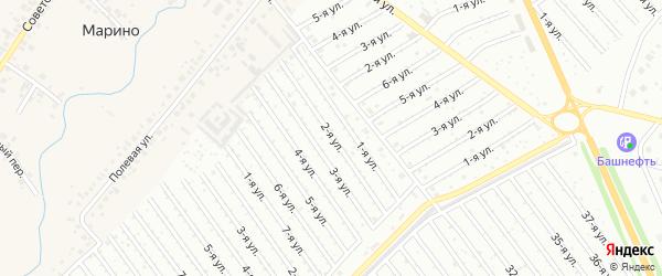 2-я улица на карте СНТ Рассвета с номерами домов