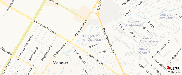 СТ СПК 50 лет Октября на карте Нефтекамска с номерами домов