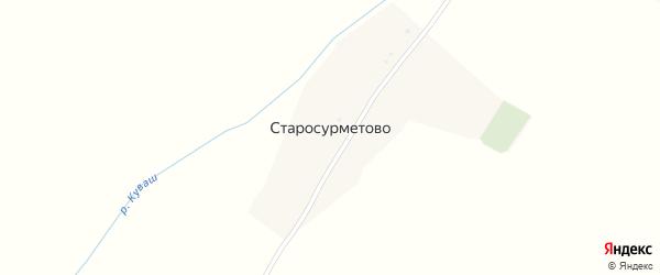 Улица Старый Сурмет на карте села Старосурметово с номерами домов