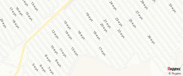 17-я улица на карте СНТ Арлана восточной стороны с номерами домов