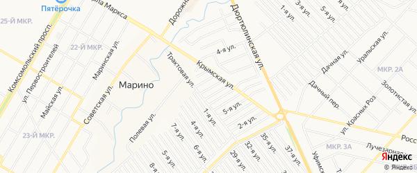 СНТ Госучреждение-2 на карте Нефтекамска с номерами домов