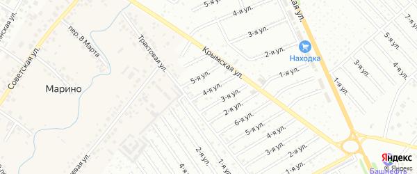 1-я улица на карте СНТ Госучреждение-2 с номерами домов