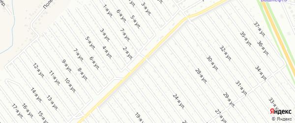 24-я улица на карте СНТ Буровика с номерами домов