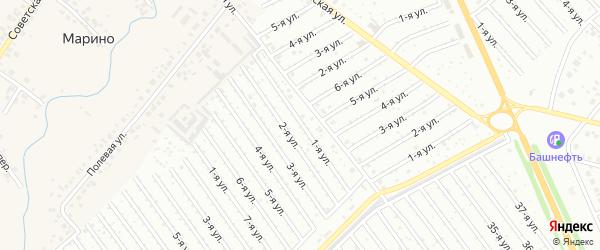 1-я улица на карте СНТ Рассвета с номерами домов