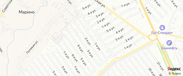 1-я улица на карте СНТ Арлана западной стороны с номерами домов