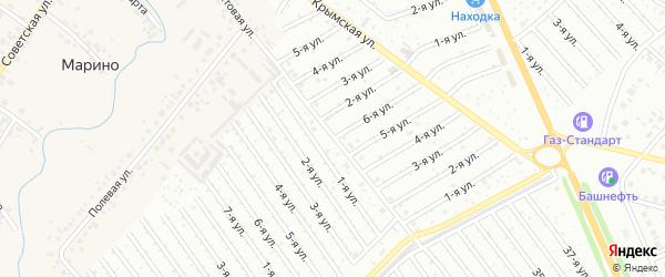 6-я улица на карте СНТ НАТП Южного с номерами домов