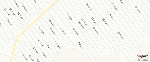18-я улица на карте СНТ Арлана восточной стороны с номерами домов