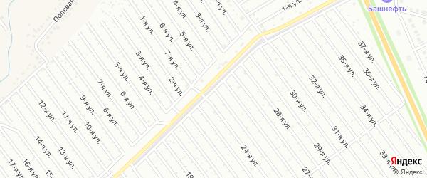 25-я улица на карте СНТ Арлана восточной стороны с номерами домов