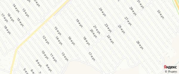 19-я улица на карте СНТ Арлана восточной стороны с номерами домов
