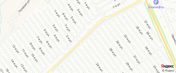 26-я улица на карте СНТ Восхода НГДУ с номерами домов