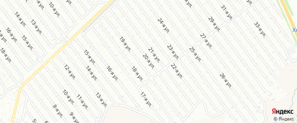 20-я улица на карте СНТ Арлана восточной стороны с номерами домов