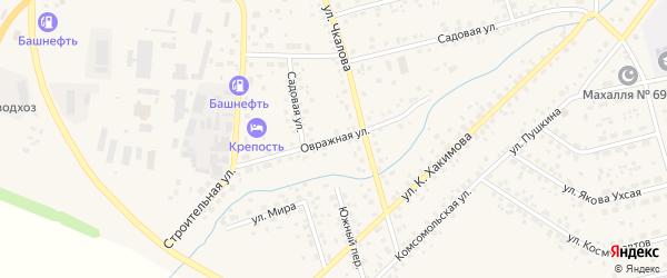 Овражная улица на карте села Бижбуляка с номерами домов