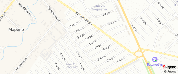 7-я улица на карте СНТ Арлана с номерами домов