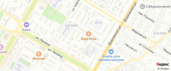 Садовая улица на карте СНТ Буя с номерами домов